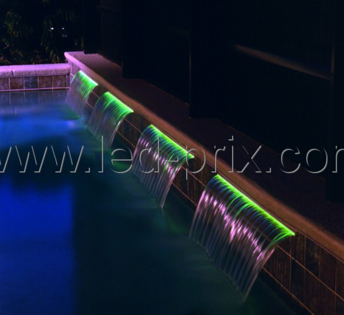 eclairage led pour piscine fibre optique et led rgb. Black Bedroom Furniture Sets. Home Design Ideas