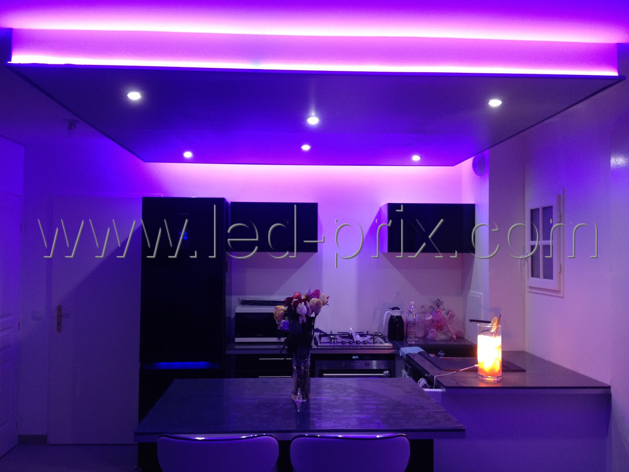 faux plafond led spot et rouleau led