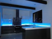 ruban de led bleu autocollant 1 m tre led flexible smd. Black Bedroom Furniture Sets. Home Design Ideas
