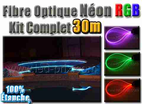 eclairage led pour piscine fibre optique et led rgb sous margelle. Black Bedroom Furniture Sets. Home Design Ideas